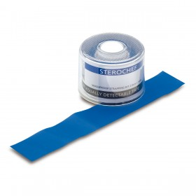 Sterochef Blue Washproof Strapping Tape 2.5cm x 5m