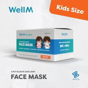 Disposable 3-Ply Face Mask for Kids 50's