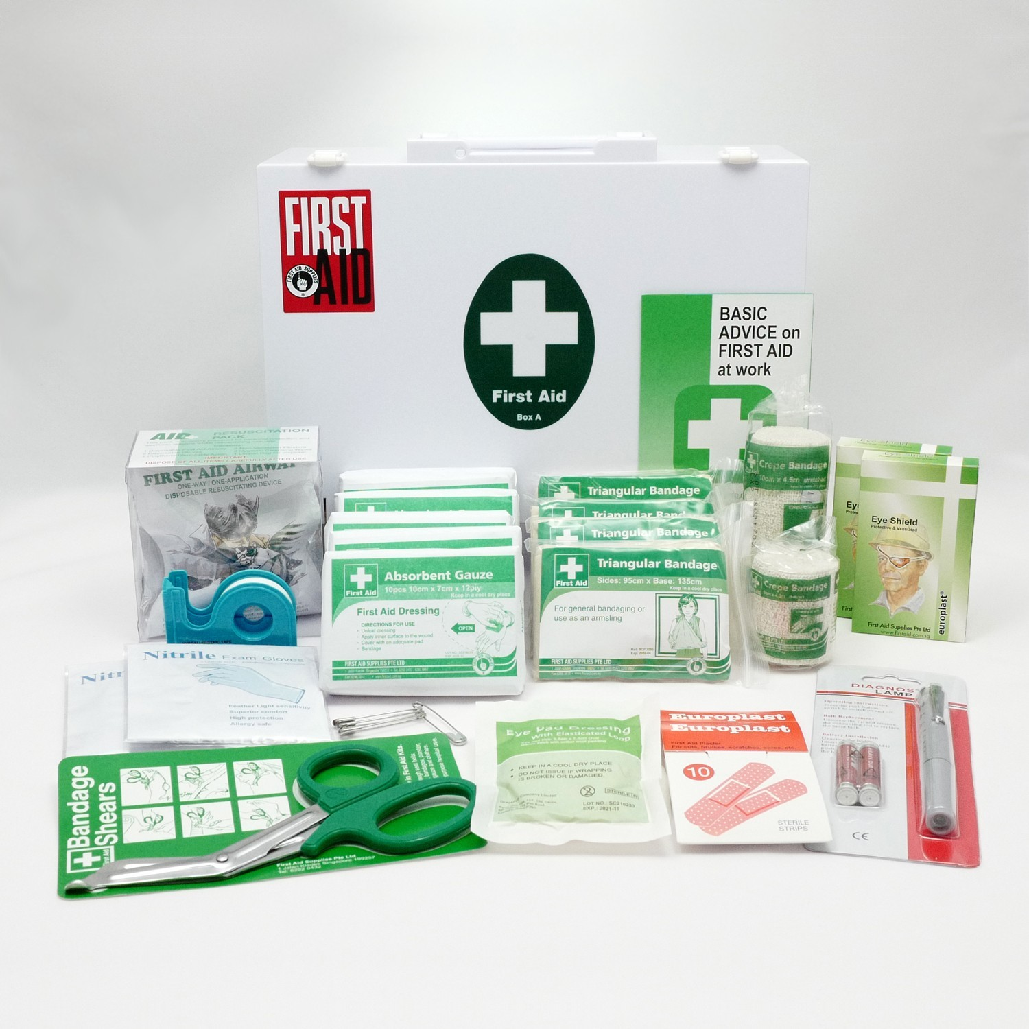 First-aid kit is a necessary thing in the company and in the office. What should be part of the first aid kit